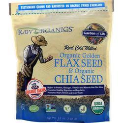 Garden Of Life Organic Golden Flax Seed & Organic Chia Seed 12 oz