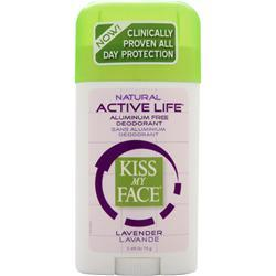 KISS MY FACE Active Life Deodorant Lavendar 2.48 oz
