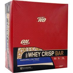 OPTIMUM NUTRITION 100% Whey Crisp Bar Marshmallow Treat 12 bars