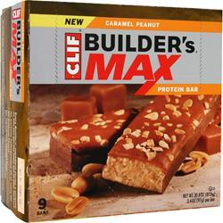 Clif Bar Builder's Maxx Bar Caramel Peanut 9 bars
