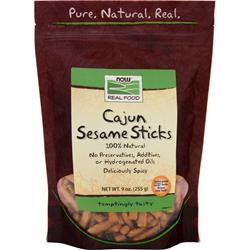 NOW Cajun Sesame Sticks 9 oz
