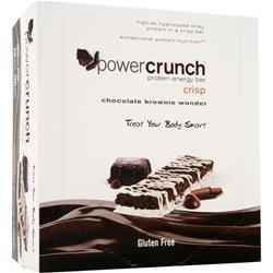 POWER CRUNCH Power Crunch Crisp Bar Chocolate Brownie Wonder 12 bars