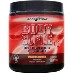 BodyStrong Body Surge V2 - Super Concentrated Pre-Workout Orange Burst 225 grams