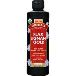 HEALTH FROM THE SUN Flax Lignan Gold - High Lignan Organic Flax Seed Oil 16 fl.oz