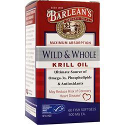 Barlean's Wild & Whole Krill Oil 60 sgels