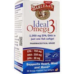 Barlean's Ideal Omega 3 Orange 30 sgels