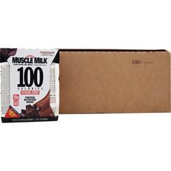 CYTOSPORT Muscle Milk 100 Calorie RTD Chocolate 24 bttls