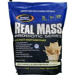 GASPARI NUTRITION Real Mass Probiotic Series Rich Vanilla Milkshake 6 lbs
