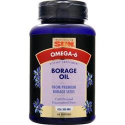 HEALTH FROM THE SUN Borage Oil (300mg) 60 sgels