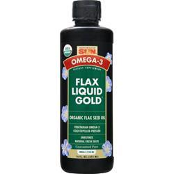 HEALTH FROM THE SUN Flax Liquid Gold - Vegetarian Organic Flax Seed Oil Best by 11/14 16 fl.oz
