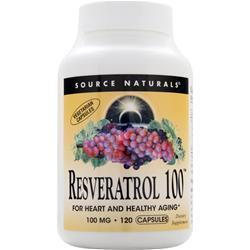 Source Naturals Resveratrol 100 120 vcaps