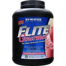 DYMATIZE NUTRITION Elite Gourmet Protein Strawberries & Cream 5 lbs
