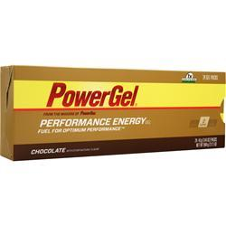 PowerBar PowerGel - Performance Energy Gel Chocolate w/ Caffeine 24 pck
