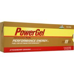 PowerBar PowerGel - Performance Energy Gel Straw/Banana w/ Caffeine 24 pck