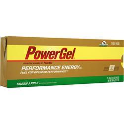 POWERBAR PowerGel - Performance Energy Gel Green Apple w/ Caffeine 24 pck