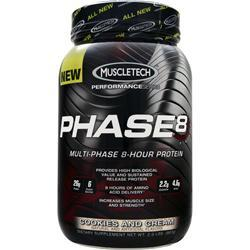 Muscletech Phase 8 - Multi Phase 8 Hour Protein Cookies and Cream 2 lbs