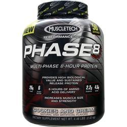 Muscletech Phase 8 - Multi Phase 8 Hour Protein Cookies and Cream 4.46 lbs