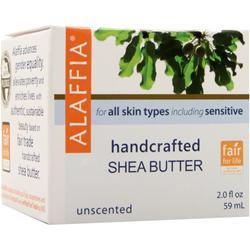 ALAFFIA Handcrafted Shea Butter Unscented 2 fl.oz