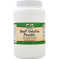 NOW Beef Gelatin Powder 4 lbs