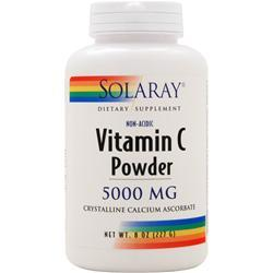 SOLARAY Vitamin C Powder (5000mg) 8 oz
