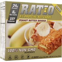 METRAGENIX Ratio 3:1 Bar Peanut Butter Banana 6 bars