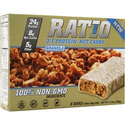 METRAGENIX Ratio 3:1 Bar Granola 6 bars