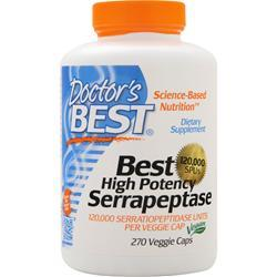 DOCTOR'S BEST Best High Potency Serrapeptase (120,000 Units) 270 vcaps