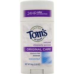 Tom's Of Maine Deodorant Stick Original Care Unscented 2.25 oz