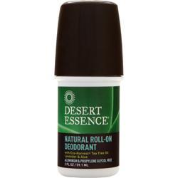 DESERT ESSENCE Natural Deodorant Tea Tree Oil Lavender 2 fl.oz