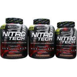 MUSCLETECH Nitro Tech - Buy 2 4lbs get 1 2 lbs free Milk Chocolate 10 lbs