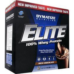 DYMATIZE NUTRITION Elite 100% Whey Protein Rich Chocolate 10 lbs