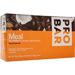 Pro Bar Whole Food Meal Bar Chocolate Coconut 12 bars