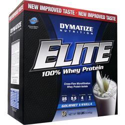Dymatize Nutrition Elite 100% Whey Protein Gourmet Vanilla 10 lbs