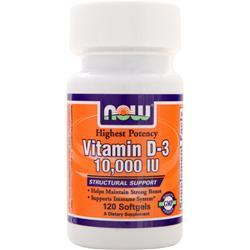 NOW Vitamin D-3 (10,000IU) 120 sgels