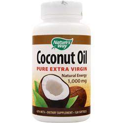NATURE'S WAY Coconut Oil (1,000mg) - Pure Extra Virgin 120 sgels