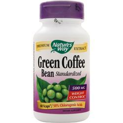 Nature's Way Green Coffee Bean (500mg) - Standardized 60 vcaps