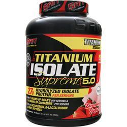SAN Titanium Isolate Supreme 5.0 Strawberry Yogurt 4.97 lbs