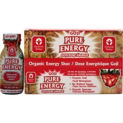 GENESIS TODAY Pure Energy - Organic Energy Shot Goji 12 bttls