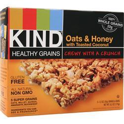 Kind Healthy Grains Bar Oats & Honey BEST BY 3/11/18 5 bars