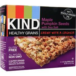 PEACEWORKS KIND Healthy Grains Bar Maple Pumpkin Seeds 5 bars