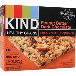 PEACEWORKS KIND Healthy Grains Bar Peanut Butter Dark Choco 5 bars