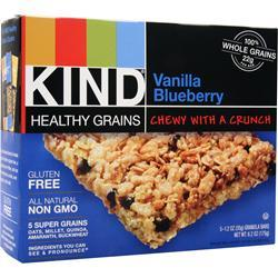 PEACEWORKS KIND Healthy Grains Bar Vanilla Blueberry 5 bars