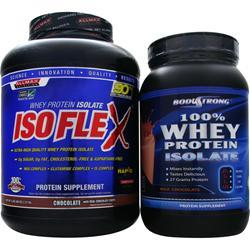 ALLMAX NUTRITION IsoFlex 5lb + Free 2lb 100% Isolate Protein Strawberry 5 lbs