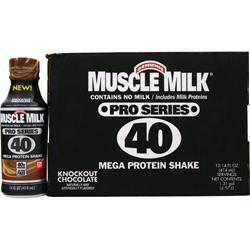 CYTOSPORT Muscle Milk Pro Series 40 RTD Knockout Chocolate 12 bttls