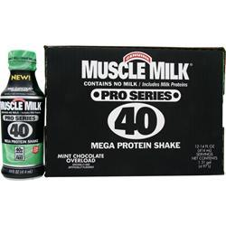 CYTOSPORT Muscle Milk Pro Series 40 RTD Mint Chocolate 12 bttls