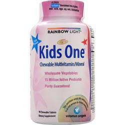 RAINBOW LIGHT Kids One MultiStars - Chewable Multivitamin/Mineral Fruit Punch 90 chews