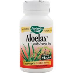 NATURE'S WAY Aloelax with Fennel Seed 100 vcaps