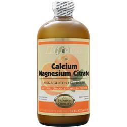 LIFETIME Liquid Calcium Magnesium Citrate Natural Orange/Vanilla 16 oz