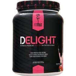 FITMISS Delight - Women's Premium Healthy Nutrition Shake Strawberries N' Cream 1.15 lbs