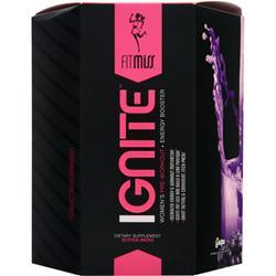 FITMISS Ignite - Women's Pre Workout + Energy Booster Grape 28 pckts